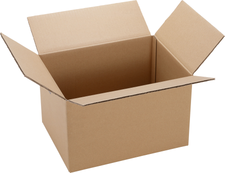 Гофрокартонна коробка для пересылки заказа почтой