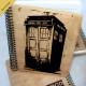 Деревянный блокнот Police Box Полицейская Будка. Что подарить на Новый Год, День Рождения, праздник