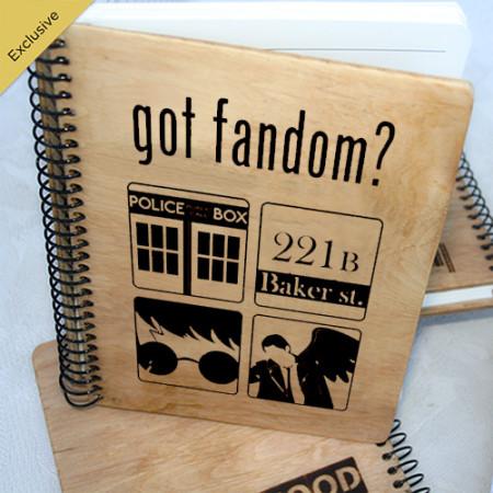Деревянный блокнот Got Fandom. Доктор Кто, Шерлок, Гарри Поттер, Сверхъестесственное. Что подарить на Новый Год, День Рождения, праздник