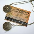 Монета ацтеков цвет бронза Пираты Каррибского моря