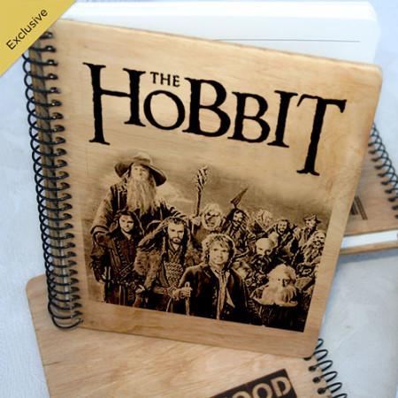 Деревянный блокнот Хоббит. Что подарить на Новый Год, День Рождения, праздник