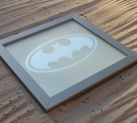 Купить зеркальную картину логотип Бэтмен в Украине