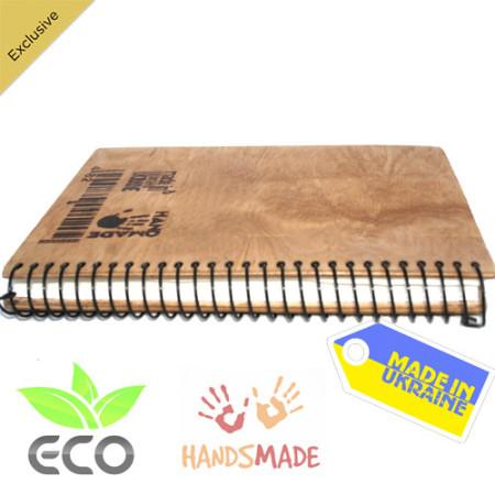Фото деревянного блокнота