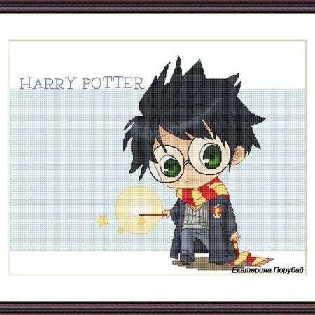 Схема для вышивки Гарри Поттер с волшебной палочкой