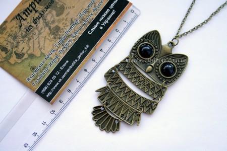 Кулон сова бронзовая