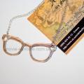 Кулон очки цвет серебро