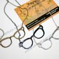 Подвеска очки, бронза, серебро, черные