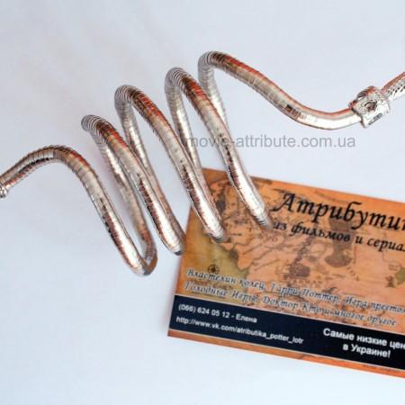 Серебряный браслет в форме змеи