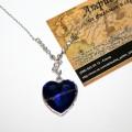 Большой кулон синее сердце