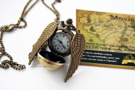 Часы снитч с длинными крыльями