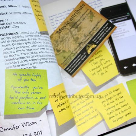 Страницы с записками Джона и Шерлока