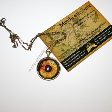 Кулон бронзовый глаз на цепочке