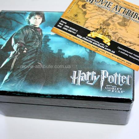 Шкатулка Гарри Поттер черная с синим