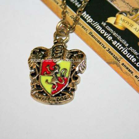 Кулон герб Гриффиндора красный