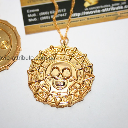 Монета ацтеков. Светлое золото