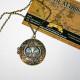 Медальон сова с голубыми глазами - камушами