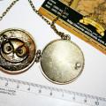 Фото медальона сова в открытом виде внутри