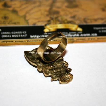 Кольцо сова, размер регулируется