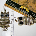 Размер сережек с совами бронза