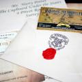 Письмо из Хогвартса запачатанное красным сургучом