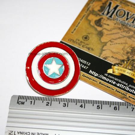 Размер броши. Щит Капитан Америка
