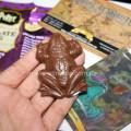 Шоколадная лягушка на ладони
