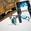 Шкарный кулон голубая бабочка