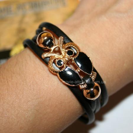 Купить кожаный браслет сова в Украине