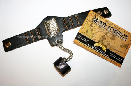 Купить кожаный браслет Атака Титанов Attack on Titan в Украине