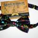 Купить галстук бабочку с нотами