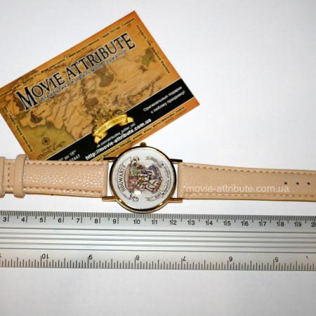 Наручные часы Хогвартс с бежевым ремешком
