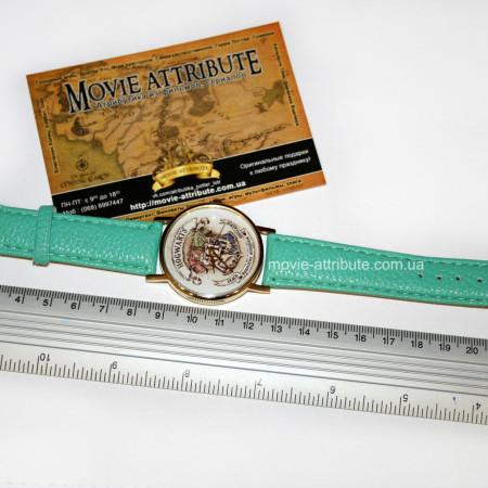 Наручные часы Хогвартс на бирюзовом ремешке