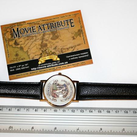 Наручные часы Хогвартс на черном ремешке