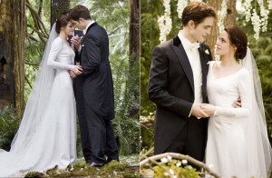 Свадьба Эдварда и Беллы. Сумерки. Свадебное платье Бэллы.