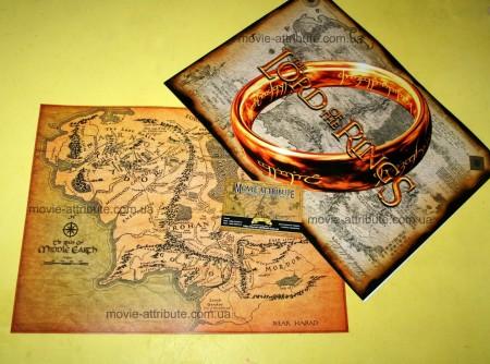 Карта Средиземья цвтная