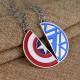 Купить парные кулоны Капитан Америка-Железный Человек