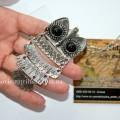Модный кулон сова серебро