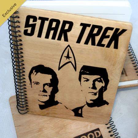 Деревянный блокнот Star Trek Звездный Путь. Что подарить на Новый Год, День Рождения, праздник