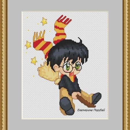 Схема для вышивки крестом Гарри Поттер