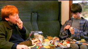 Рон и Гарри едят Берти Боттс