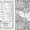 Гаррі Поттер книжка розмальовка Дамблдор