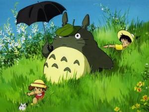 Тоторо с зонтиком
