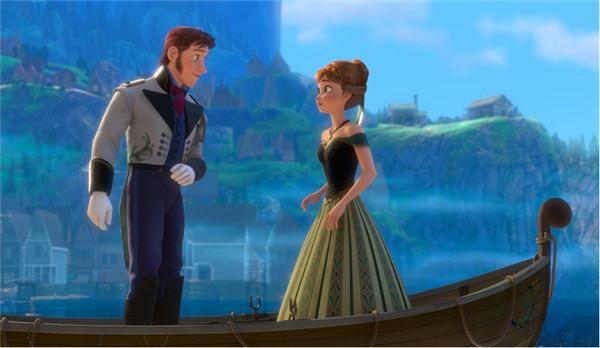 принцесса Анна и принц в лодке