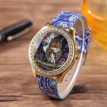 Купить Наручные часы сова, синие в Украине